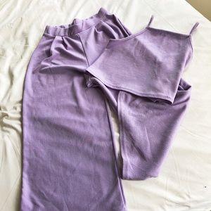 Boohoo light purple set- size 6